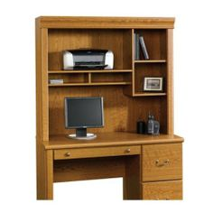 "Orchard Hills Desk HUTCH - Carolina Oak finish by TDM. $105.98. Features Attaches to Computer Desk 402174. Adjustable shelf. Cubbyhole storage provides additional storage. Carolina Oak finish.    Dimensions W:47 3/8"" (120.2cm) D:13 1/2"" (34.2cm) H:41 1/4"" (104.7cm)"