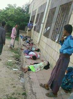 """اخبار اليمن خلال ساعة - صورة مؤلمة لمصابين بـ """"الكوليرا"""" جوار أحد المستوصفات الطبية بحجة!"""