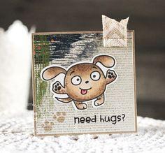 Card by Laurie Schmidlin using PS Comforting Hugs stamps/dies