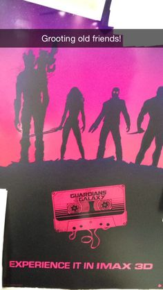 #Spotted #GuardiansOfTheGalaxy #poster at friend's house #GrootingOldFriends