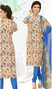 Casual Daily Wear Salwar Kameez in Cream Color Cotton Fabric | FH514378290 #casual, #salwar, #kameez, #online, #trendy, #shopping, #latest, #collections, #summer,#shalwar, #hot, #season, #suits, #cheap, #indian, #womens, #dress, #design, #fashion, #boutique, #heenastyle, #clothing, #cotton, #printed, #materials, @heenastyle
