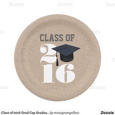 Class of 2016 Grad Cap Graduate Paper Plates  sc 1 st  Pinterest & Chalkboard Grad Cap 2016 Graduation Paper Plate | Paper Grad cap ...