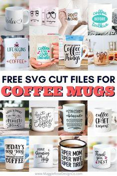 Cricut Svg Files Free, Cricut Fonts, Cricut Explore Projects, Mug Press, Diy Mugs, Coffee Crafts, Cricut Craft Room, How To Make Coffee, Cricut Tutorials