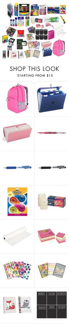 """Untitled #95"" by lauracruzsoriano-2 on Polyvore featuring beauty, SwissGear, Smead, Sharpie, Grafico and Wallies"