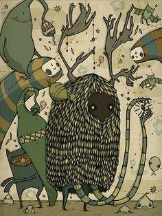 Fantastic Illustrations by Nat Emmett | -::[robot:mafia]::- .ılılı. electronic beats ★ visual art .ılılı.