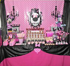Mesa de Dulces Minnie Rosa