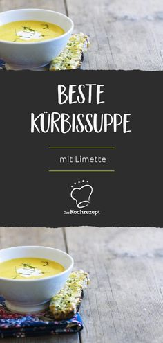 Beste Kürbiscremesuppe mit Limette Food, Eat Lunch, Food Dinners, Chef Recipes, Food And Drinks, Essen, Meals, Yemek, Eten