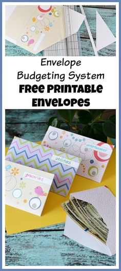The envelope budgeting system is an easy and effective way to make a budget! And it's a lot more fun if you use these pretty free printable envelopes! | budgeting, frugal living, save money, free printables
