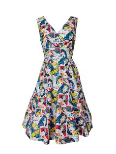 Pigtails and Pirates - Wonder woman Dress Retro / Vintage inspired dress