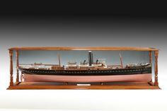 Shipbuilder's cased model of the SS Fusilier
