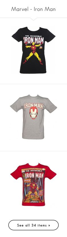 """""""Marvel - Iron Man"""" by louiseeleanorbee ❤ liked on Polyvore featuring tops, t-shirts, chain top, men's fashion, men's clothing, men's shirts, men's t-shirts, grey, lullabies and mens gray dress shirt"""