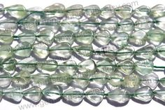 Green Fluorite Smooth Pear Quality B / A by GemstoneWholesaler