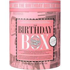 Soap & Glory The Birthday Box Gift Set 1 set ($20) ❤ liked on Polyvore featuring beauty products, gift sets & kits and beauty