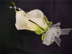 ETSY - Set of 7 Wedding Corsages.White Calla Lily. by FantasyWedding