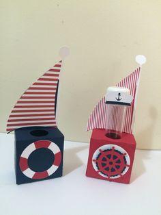 Porta Tubete Marinheiro - By Papelinttê , sailor party