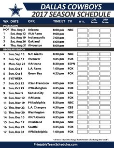 photo regarding Cowboys Printable Schedule referred to as Printable Staff members Schedules (printteamsched) upon Pinterest