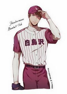 x Diamond no Ace crossover // Okay, this I would pay to see. I can just imagine Ushijima playing baseball. Haikyuu Ships, Haikyuu Fanart, Haikyuu Anime, Girls Anime, Me Anime, Manga Anime, Baseball Anime, Baseball Boys, Baseball Memes