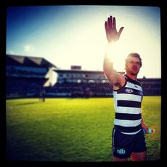 Matthew Scarlett salutes his home crowd, perhaps for the final time