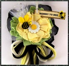 Mommy To Bee Corsage Baby Shower Corsage Bee Theme Baby Shower by BloomingParty, $14.00