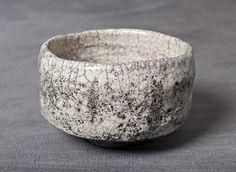 Raku matcha bowl by Dormantė Penkinski. GYVA collection, Vilnius, Lithuania. SOLD
