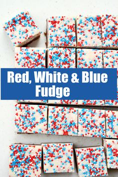 Red, White and Blue Fudge Recipe from RecipeBoy.com #red #white #blue #redwhiteandblue #fudge #recipe #RecipeBoy Fun Baking Recipes, Easy Delicious Recipes, Fudge Recipes, Candy Recipes, Yummy Food, Most Pinned Recipes, White Chocolate Fudge, Christmas Fudge, Jell O