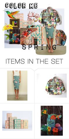 """""""color Me Spring"""" by minalucinda ❤ liked on Polyvore featuring art and vintage"""