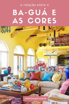 Mexican Decor Styles We Love We've always loved Mexican and Spanish architecture and interior design styles. See our favorite Mexican decor styles. Fresh Living Room, Bohemian Living Rooms, Colourful Living Room, Warm Colours Living Room, Living Room Decor Yellow Walls, Yellow Rooms, Living Area, Mexican Interior Design, Colorful Interior Design