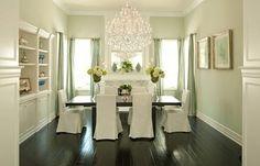 Love the oversized chandelier.