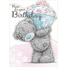 Giant Cupcake Me to You Bear Birthday Card (A01SD142) : Me to You Bears Online - The Tatty Teddy Superstore.