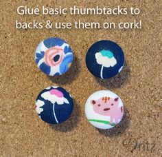 Dritz Craft Cover Buttons Push Pins