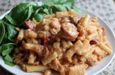 Skinny chorizo macaroni cheese