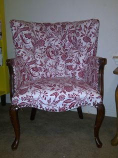 The second reupholstered chair