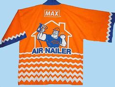Vintage 80s Happi Coat Advertising Max Air Nailer L by TheSpectrum, $25.00