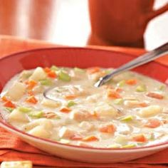 Creamy Turkey Vegetable Soup Recipe.