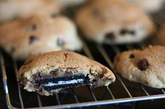 baked oreo and chocolate chip cookies