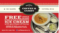 New curry restaurant! Old Fashioned Ice Cream, Online Coupons, Curry, Restaurant, Food, Meal, Diner Restaurant, Essen, Eten