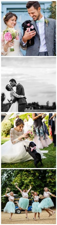 A pastel toned wedding in the English countryside. Meet Amanda and Stuart who had the most picture perfect country wedding with giant balloons, their pet pug as guest of honour, vintage gypsy caravans and lots of confetti! Weddings photographed by Lina and Tom.