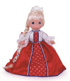 "Freedom Rapunzel, patriotic 4th of July doll, Disneyworld Exclusive. 12"" vinyl doll by Precious Moments. 