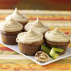 Zucchini Cupcakes Recipe from Taste of Home -- shared by Virginia LaPierre of Greensboro Bend, Vermont