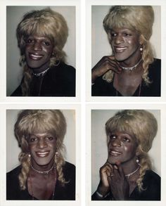Marsha P. Johnson was a leader of the 1969 Stonewall Riots. Here are Polaroids of her taken by Andy Warhol to show remembrance of her as the significant trailblazer that she was in making the Stonewall Riots happen. Stonewall Uprising, Stonewall Riots, Stonewall Inn, Black Power, Paper Magazine, Lgbt History, History Class, Black Trans, Lgbt Rights