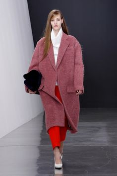 Celine coat and ankle pant. Celine Fall 2012.