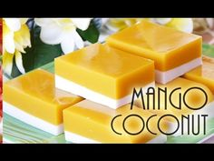 Enjoy this mixed tropical flavors of mango, coconut and agar agar! The tantalizing taste of sweet mangoes! Mixed with the heavenly creaminess of coconut! What's even better, it's concocted with low… Healthy Vegan Desserts, Coconut Desserts, Asian Desserts, Sweet Desserts, Delicious Desserts, Mango Desserts, Jelly Desserts, Coconut Jello, Best Cinnamon Rolls