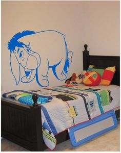 The cute donkey Eeyore can now be in your kids' bedroom, with this easy-to-apply wall-sticker!    Available on http://www.gloob.in/donkey.html      Gloob Decals are wall stickers made from an ultra-thin self-adhesive vinyl film. They are excellent substitutes to wallpapers and are available in various artistic designs. Its extremely easy to apply them  from your walls or any flat,smooth surface thereby letting you redefine your spaces within minutes.
