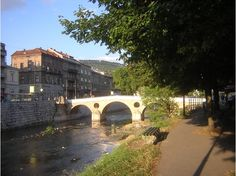 Sarajevo - Latin Bridge - Austrian Archduke Franz Ferdinand and his wife Sophie paused at the National Library on that fateful day in 1914. Despite an earlier unsuccessful assassination attempt that day, they rode west along the riverside in an open car to the Latin Bridge. It was here that Gavrilo Princip stepped forward to fire his pistol, killing them both and sparking off war between Austria-Hungary and Serbia. Thanks to a series of European alliances, this escalated into WW I