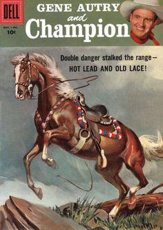 Gene Autry's Champion Comic Book art by Sam Savitt