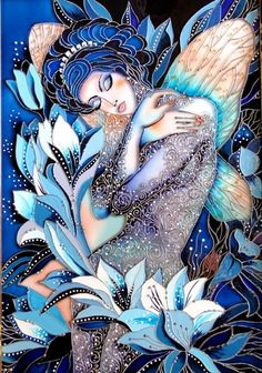 """Fairy Night"" Stained Glass Painting ~ by Iris"