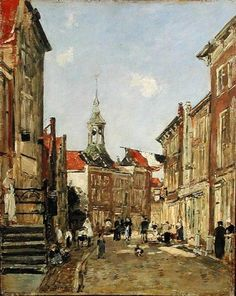 Eugene Louis Boudin. The Rue de Dordrecht, 1884. Oil on panel. Image source: Bridgeman Art Library Location: Kelvingrove Art Gallery and Museum (website) © Bridgeman Art Library / Art Gallery and Museum, Kelvingrove, Glasgow, Scotland / © Culture and Sport Glasgow (Museums)