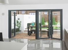 Supreme 4M Grey Aluminium Double Glazed