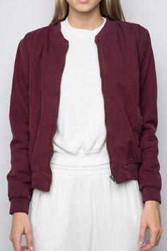 Brandy ♥ Melville | Kasey Bomber Jacket - Clothing