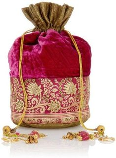 Meera Mahadevia Women's Handbag (Pink and Green) (MM Vintage Purses, Vintage Bags, Vintage Handbags, Potli Bags, Ethnic Bag, Floral Clutches, Fabric Bags, Handmade Bags, Small Bags